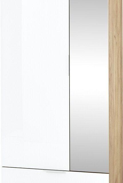 Kledingkast Telde 196 cm hoog – Navarra eiken met wit | Alamania