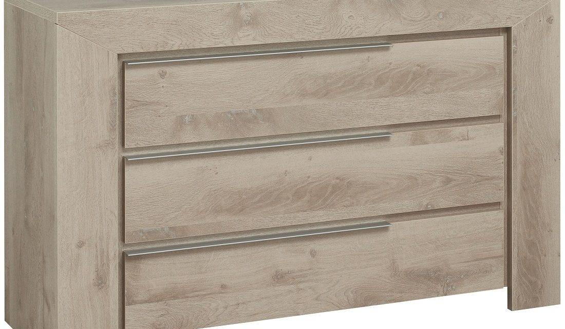 Ladekast Sarlat 80 cm hoog in donker eiken | Gamillo Furniture