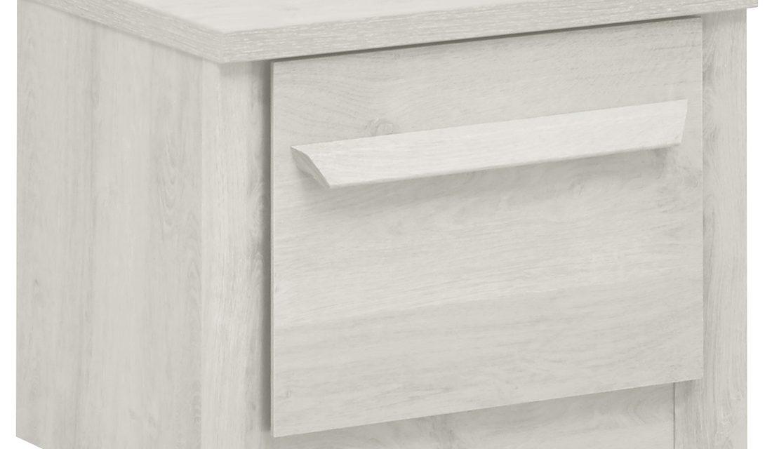 Nachtkastje Eden 38 cm hoog in gebleekt eiken | Gamillo Furniture