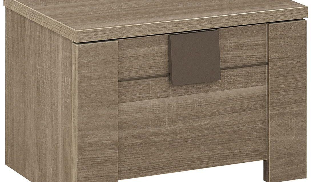 Nachtkastje Moka 38 cm hoog in houtskool eiken | Gamillo Furniture