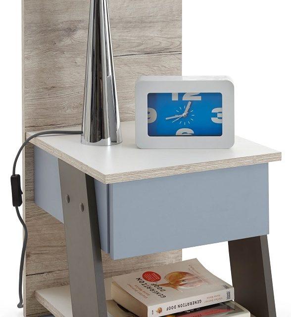 Nachtkastje Nona van 70 cm hoog in zand eiken   FD Furniture