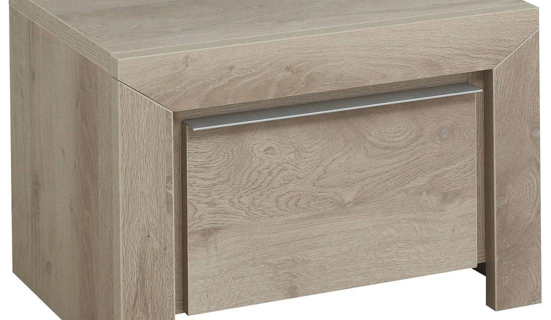 Nachtkastje Sarlat 38 cm hoog in donker eiken | Gamillo Furniture