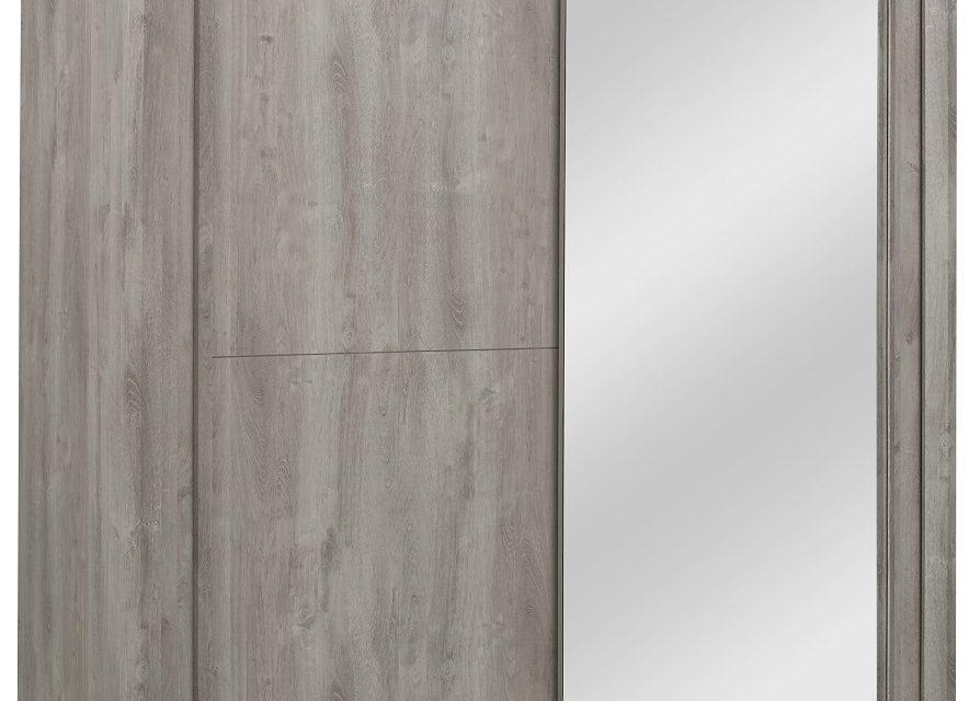 Schuifdeurkast Eden 201 cm breed in grijs eiken | Bordini Furniture