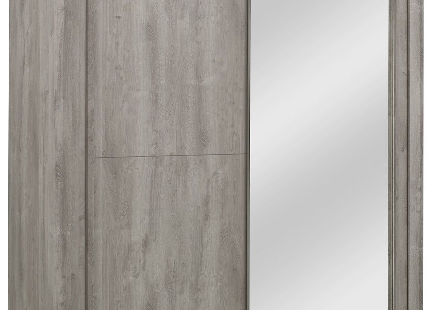 Schuifdeurkast Eden 201 cm breed in grijs eiken | Gamillo Furniture
