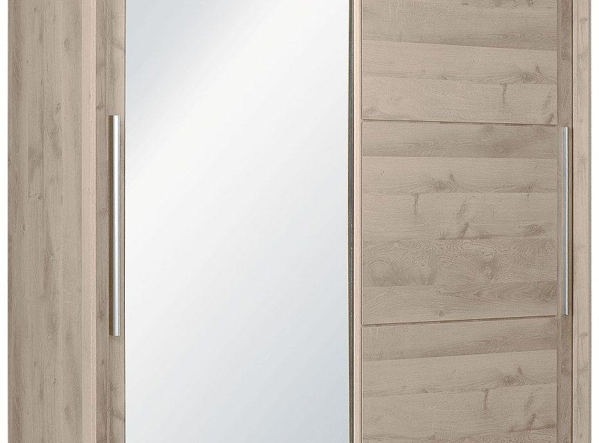 Schuifdeurkast Sarlat 191 cm breed in donker eiken | Bordini Furniture