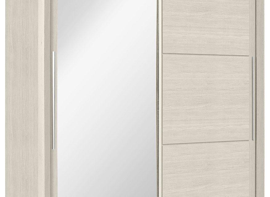Schuifdeurkast Sarlat 191 cm breed in gekalkte kersenhout | Bordini Furniture