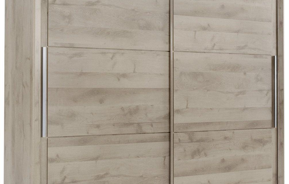 Schuifdeurkast Sarlat 241 cm breed in donker eiken | Bordini Furniture