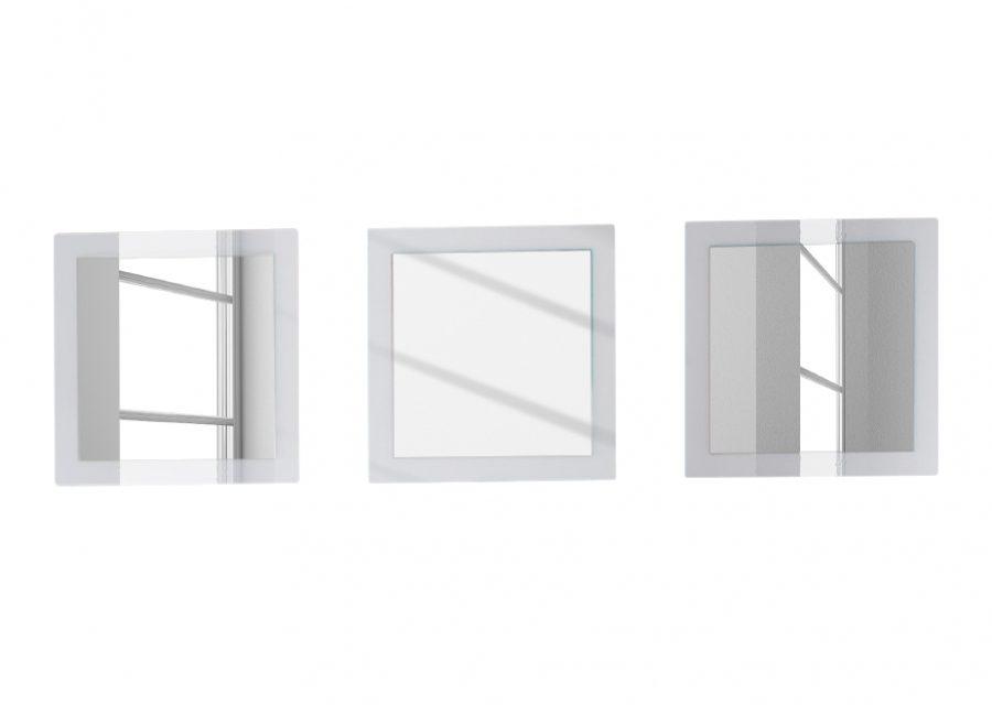 Spiegel Esso 51x51cm – Hoogglans Wit   Pesaro Mobilia