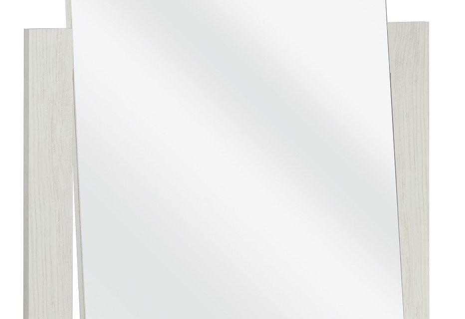 Spiegel Thelma 82 cm hoog in gekalkte kastanjehout | Bordini Furniture