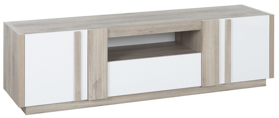 Tv meubel Aston 180 cm breed in kronberg eiken met wit | Gamillo Furniture