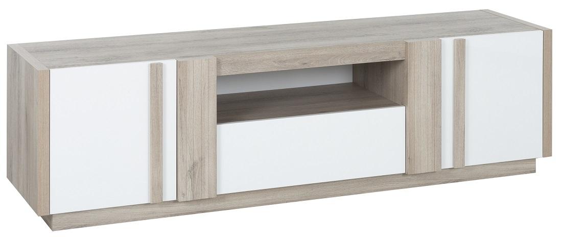 Tv-meubel Aston 180 cm breed in kronberg eiken met wit | Gamillo Furniture