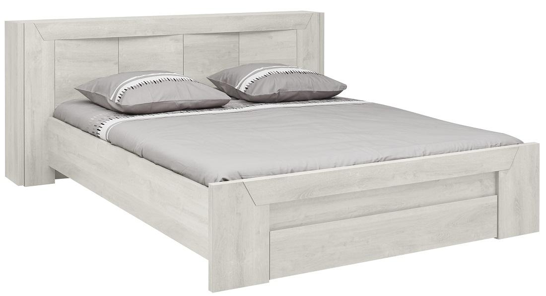Tweepersoonsbed Eden 140x200cm in gebleekt eiken | Gamillo Furniture