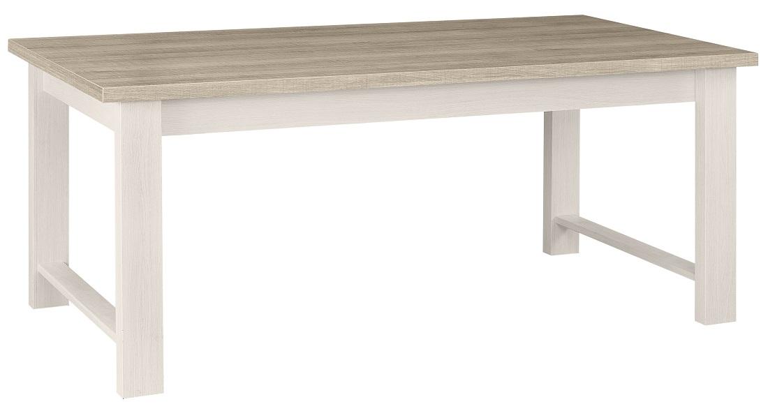 Uitschuifbare eettafel Toscane 180 tot 270 cm breed in gekalkte esdoorn met eiken   Gamillo Furniture