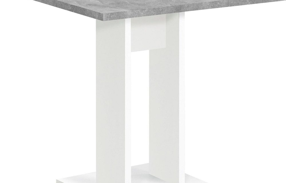 Vierkante eettafel Bandol 70x75x70 cm breed in grijs beton   FD Furniture