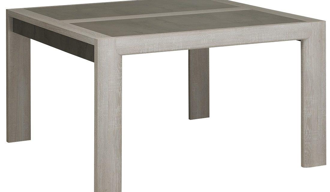 Vierkante eettafel Sandro 130x76x130 cm breed in licht grijs eiken | Gamillo Furniture