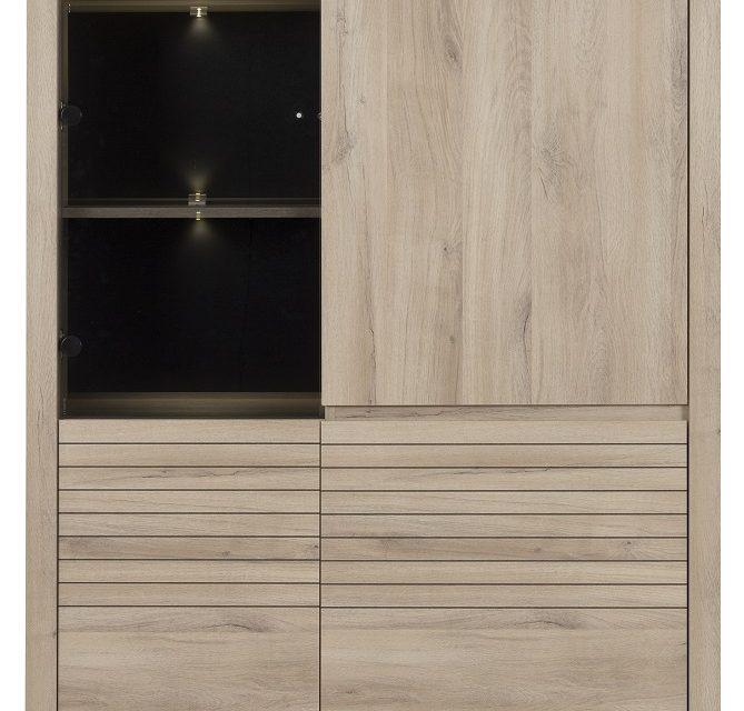 Vitrinekast Clay 185 cm hoog in Kronberg eiken | Bordini Furniture