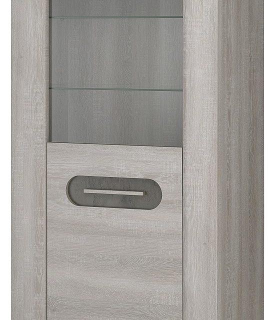 Vitrinekast Sandro small van 180 cm hoog in licht grijs eiken | Bordini Furniture