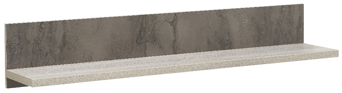 Wandplank Sandro 160 cm breed in licht grijs eiken | Gamillo Furniture