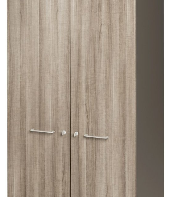 Archiefkast Jazz Small van 183 cm hoog in grijs eiken met grijs | Gamillo Furniture