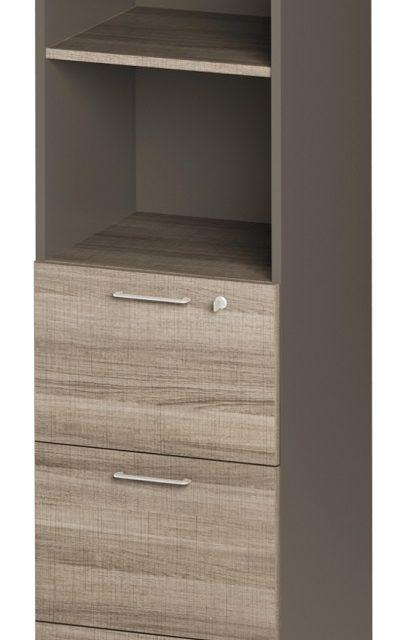 Boekenkast Jazz 4 van 183 cm hoog in grijs eiken met grijs | Gamillo Furniture
