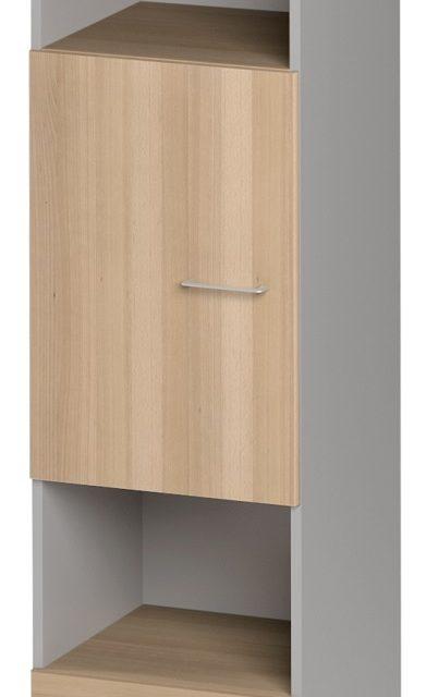 Boekenkast Jazz 5 van 183 cm hoog in beuken met licht grijs | Gamillo Furniture