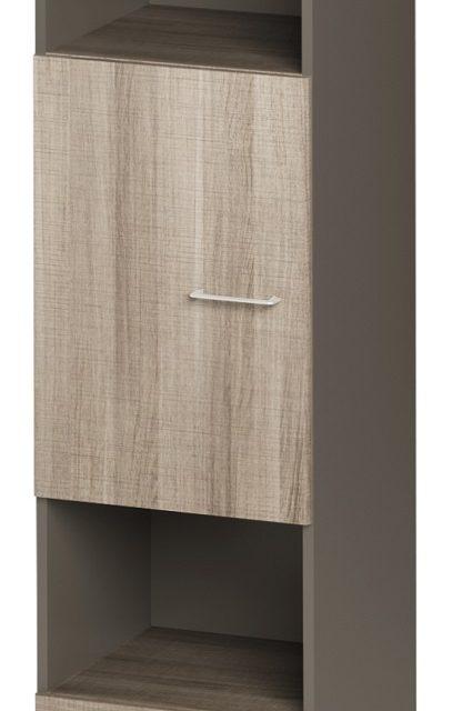 Boekenkast Jazz 5 van 183 cm hoog in grijs eiken met grijs | Gamillo Furniture