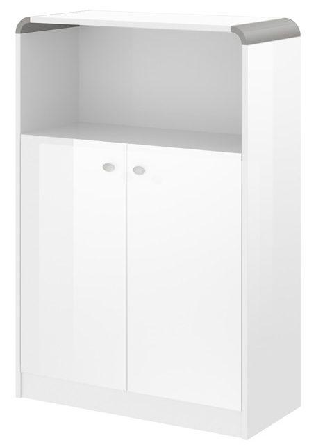Boekenkast Murano 118 cm hoog in hoogglans wit | Hubertus Meble