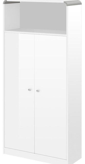 Boekenkast Murano 190 cm hoog in hoogglans wit | Hubertus Meble