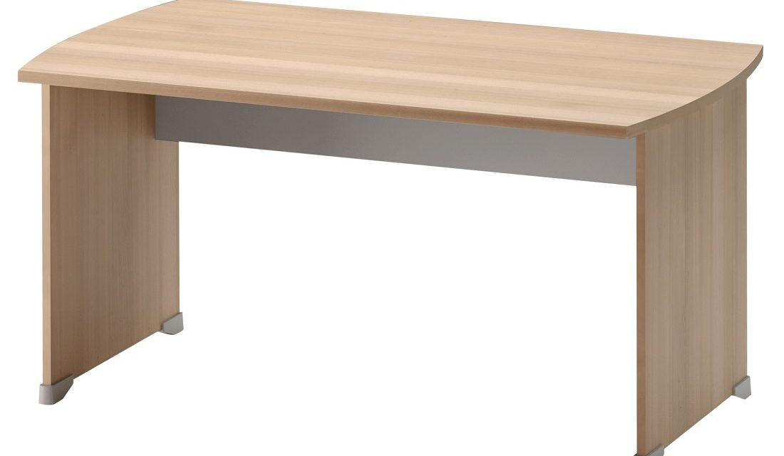 Bureau Jazz 140 cm breed in beuken met licht grijs | Gamillo Furniture