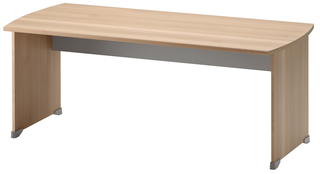 Bureau Jazz 180 cm breed in beuken met licht grijs | Gamillo Furniture