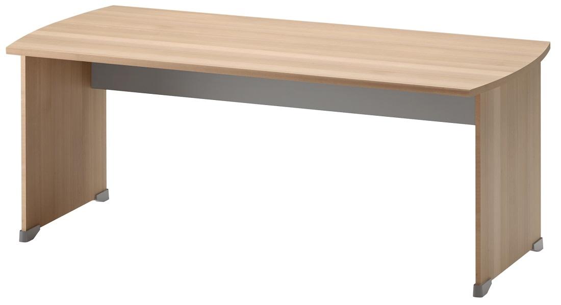 Bureau Jazz 180 cm breed in beuken met licht grijs   Gamillo Furniture