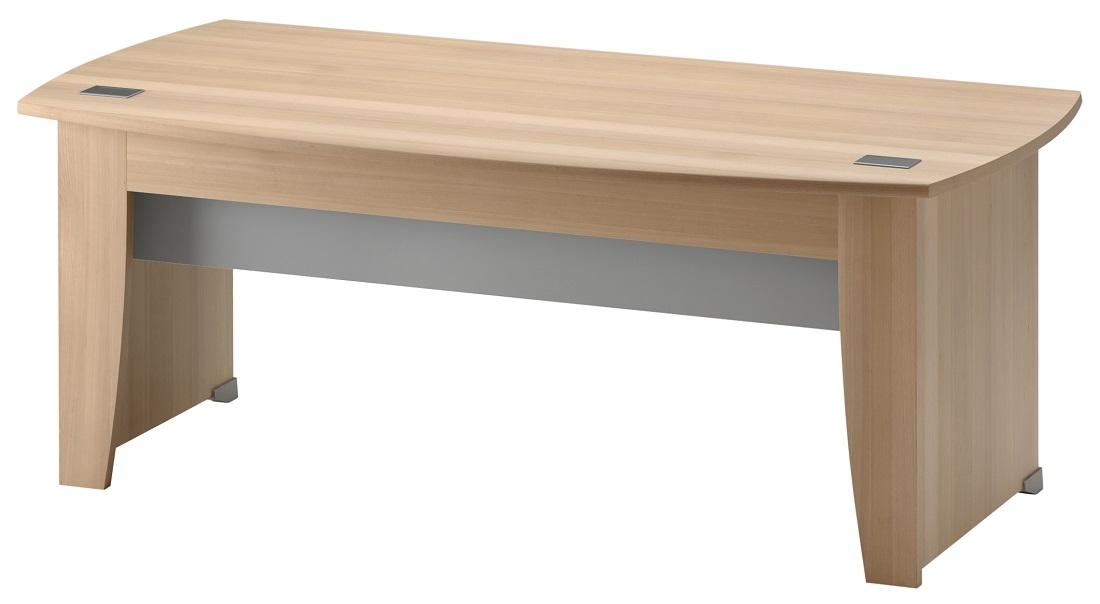 Bureau Jazz 182 cm breed in beuken met licht grijs   Gamillo Furniture