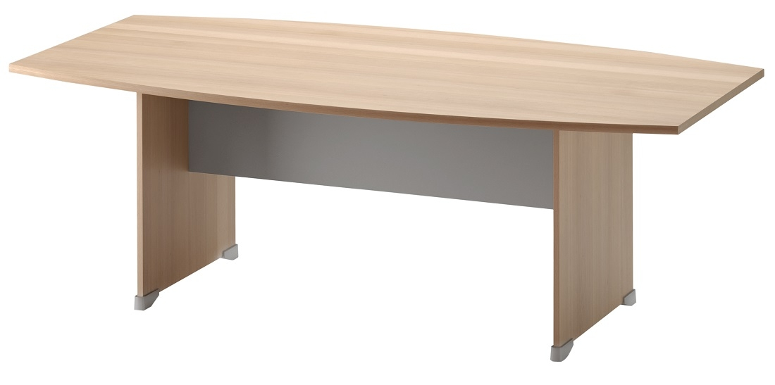 Bureau Jazz 204 cm breed in beuken met licht grijs | Gamillo Furniture