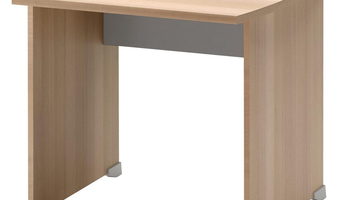 Bureau Jazz 80 cm breed in beuken met licht grijs   Gamillo Furniture