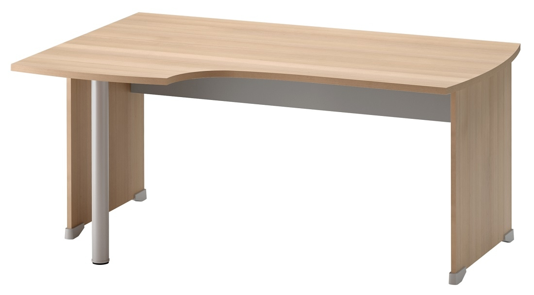 Bureau Jazz links 160 cm breed in beuken met licht grijs | Gamillo Furniture