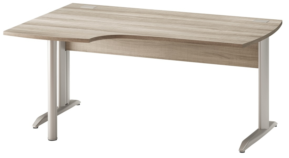 Bureau Jazz plus Links 160 cm breed in grijs eiken | Gamillo Furniture