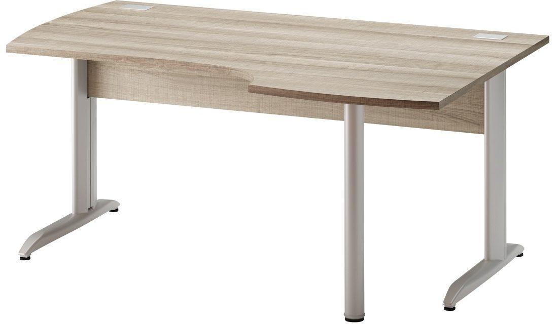 Bureau Jazz plus Rechts 160 cm breed in grijs eiken | Gamillo Furniture