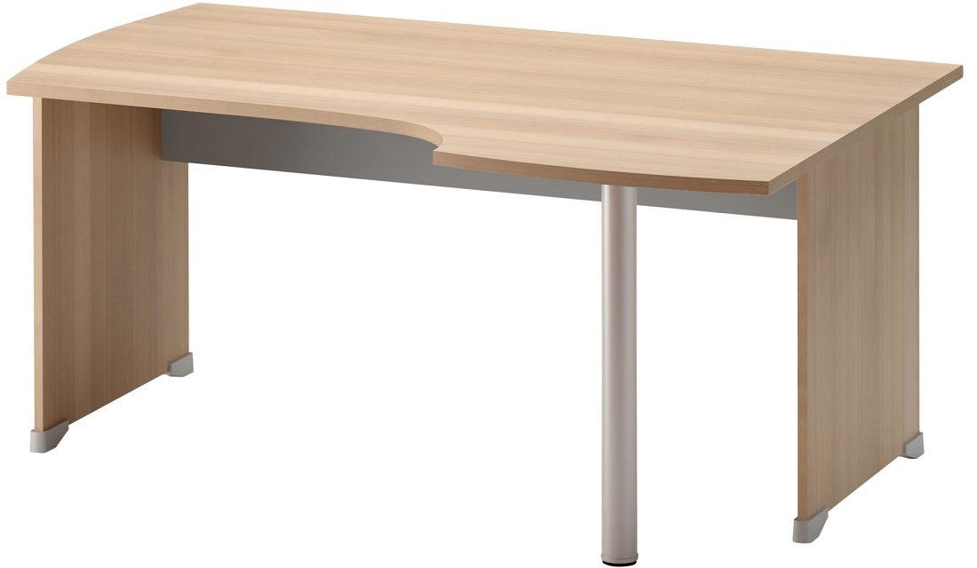 Bureau Jazz rechts 160 cm breed in beuken met licht grijs   Gamillo Furniture