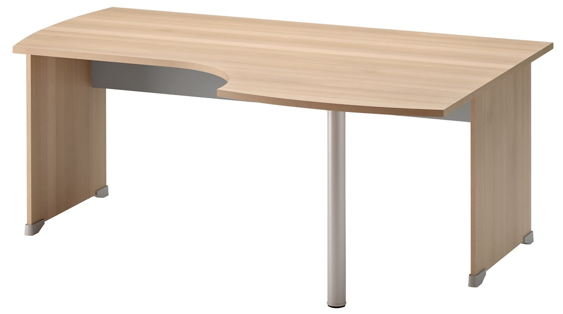 Bureau Jazz rechts 180 cm breed in beuken met licht grijs | Gamillo Furniture