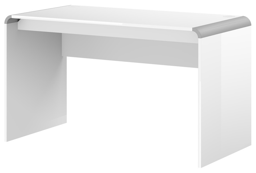 Bureau Murano 130 cm breed in hoogglans wit   Hubertus Meble