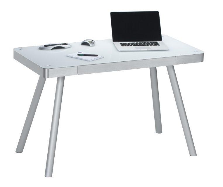 Bureau Urban van 120 cm breed in wit met grijs zilver | Bermeo
