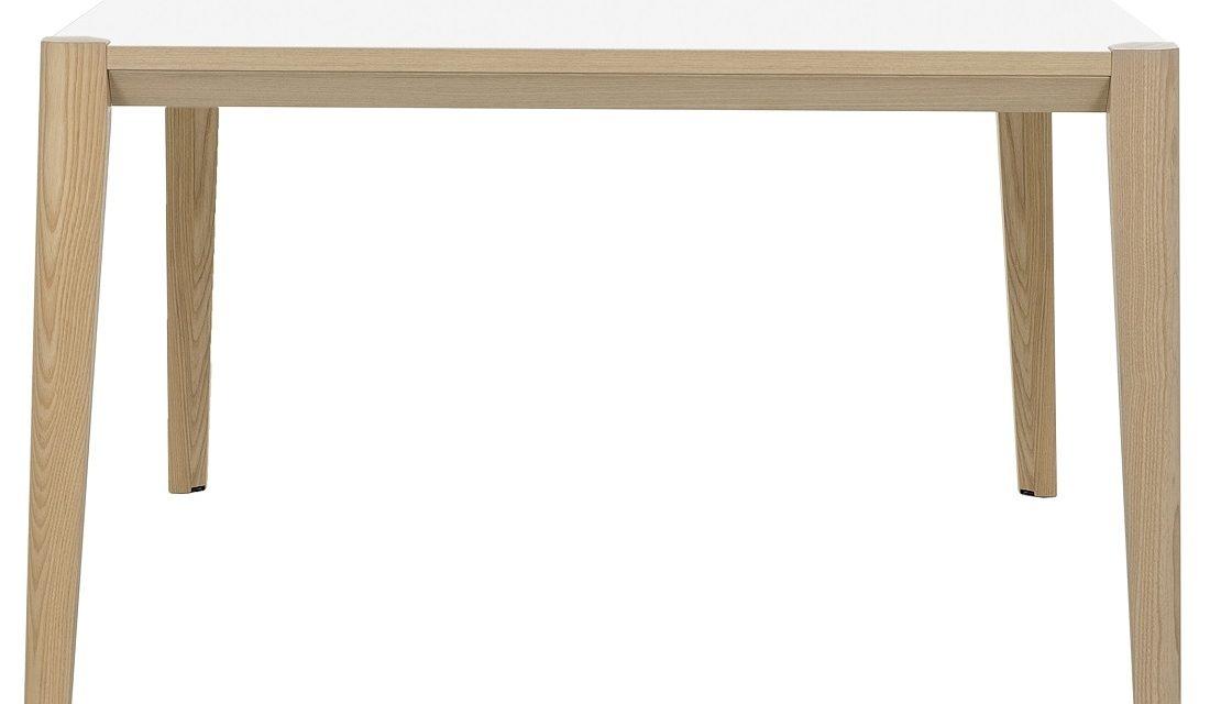 Bureau tafel Absolu 140 cm breed in wit met eiken | Gamillo Furniture