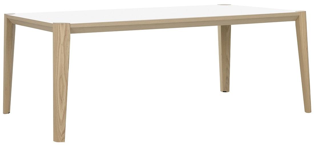 Bureau tafel Absolu 200 cm breed in wit met eiken | Gamillo Furniture