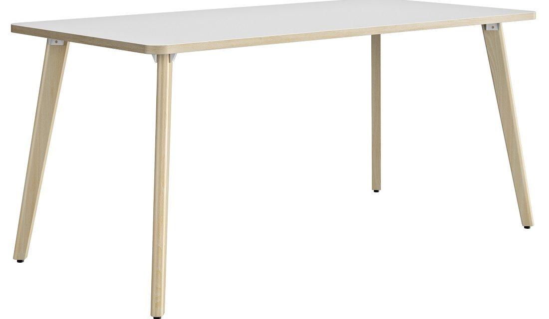 Bureau tafel Artefact 140 cm breed in wit met eiken | Gamillo Furniture