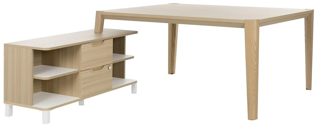 Bureau tafel set Absolu 164 cm breed in eiken | Gamillo Furniture