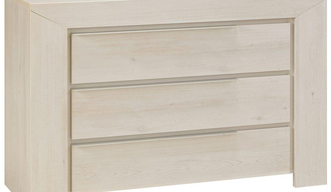 Commode Sarlat 80 cm hoog in gekalkte kersenhout | Gamillo Furniture