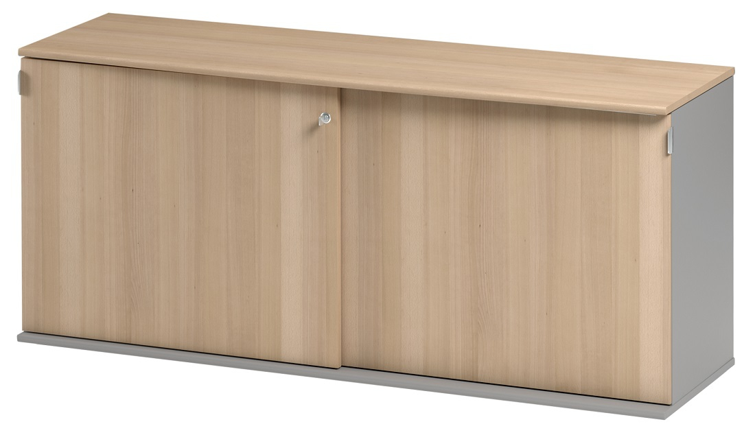 Dressoir Jazz 160 cm breed in beuken met licht grijs | Gamillo Furniture