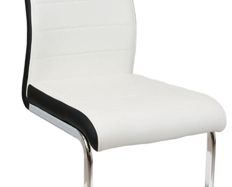 Eetkamerstoel Livorno set van 2 stuks in wit met zwart | Hubertus Meble