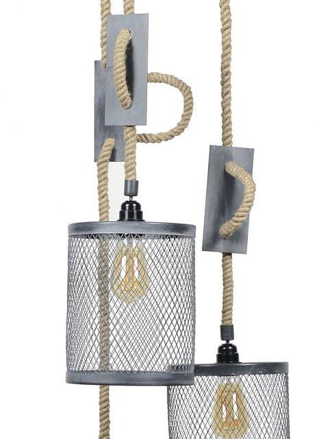 Hanglamp Cody 3LxØ20 van 170 cm hoog in grijs | Zaloni