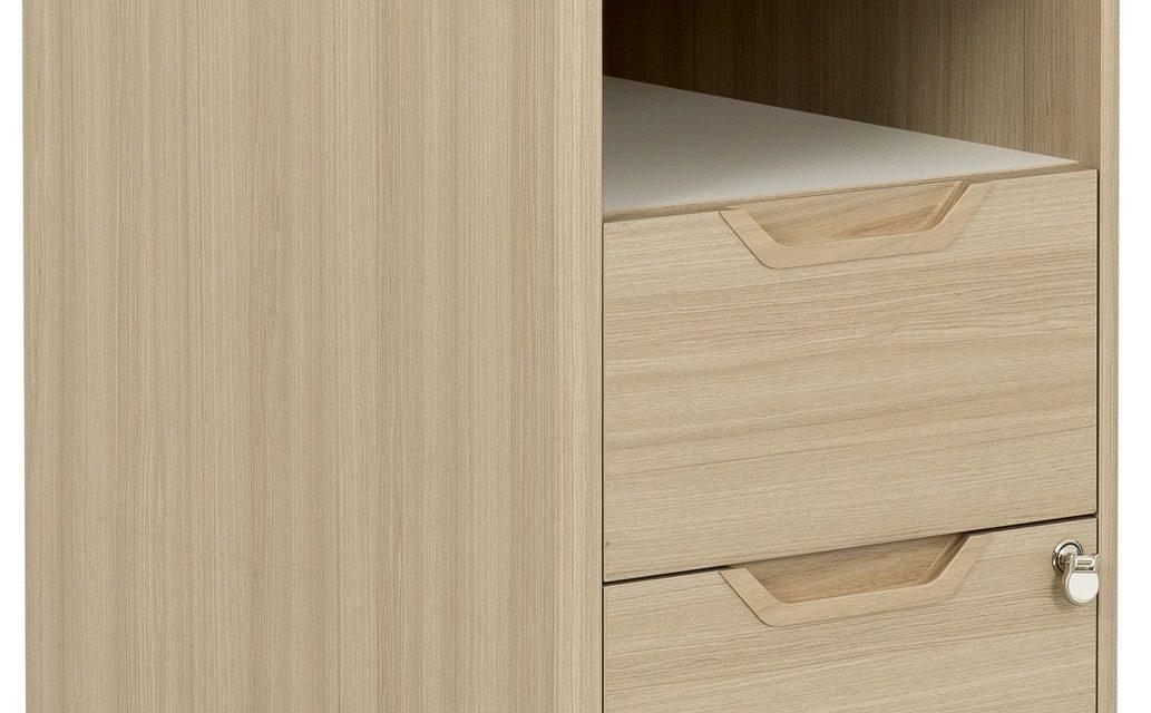 Ladeblok Absolu 2 van 64 cm hoog in eiken   Gamillo Furniture